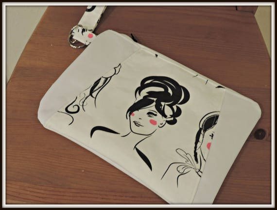 face wristlet, ladies face clutch, date night wristlet, birthday gift wristlet, lovely lady bag, fashion lover purse, fashionista gift purse