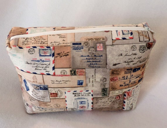 postal boxy bag, mail carrier gift, USPS toiletry bag, gift for postal worker, mail carrier appreciation gift, postal worker cosmetic bag