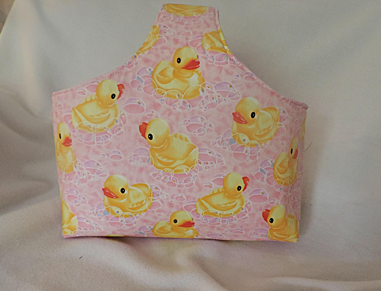 Rubber Ducky Bag Nursery Storage Basket Duck Nursery Decor Baby Duck Nursery Baby Shower Gift Duckie Basket Toy Storage New Baby Gift
