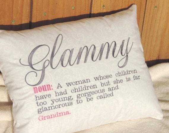 glammy pillow, Grandma definition pillow, gift for grandma, pregnancy reveal gift, new grandma gift, trending now, best selling items
