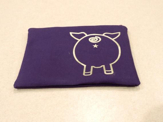 pig butt bag, pet pig lover gift, pig butt organizer bag, pig lover bag, pig cosmetic bag, pig lover gift
