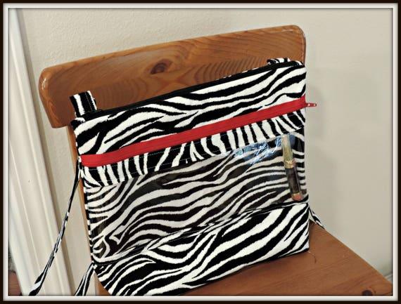 clear pocket bag, zebra print bag, Crossbody WOW Bag LipSense bag, SeneGence Direct Sales, Color Street, Paparazzi, Younique, Bling Bag