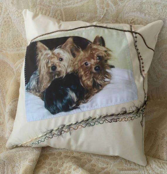 pet portrait pillow, pet memorial pillow, pet memorial gift, new pet gift, pet lover gift, pet portrait, pet drawing, custom pet portrait