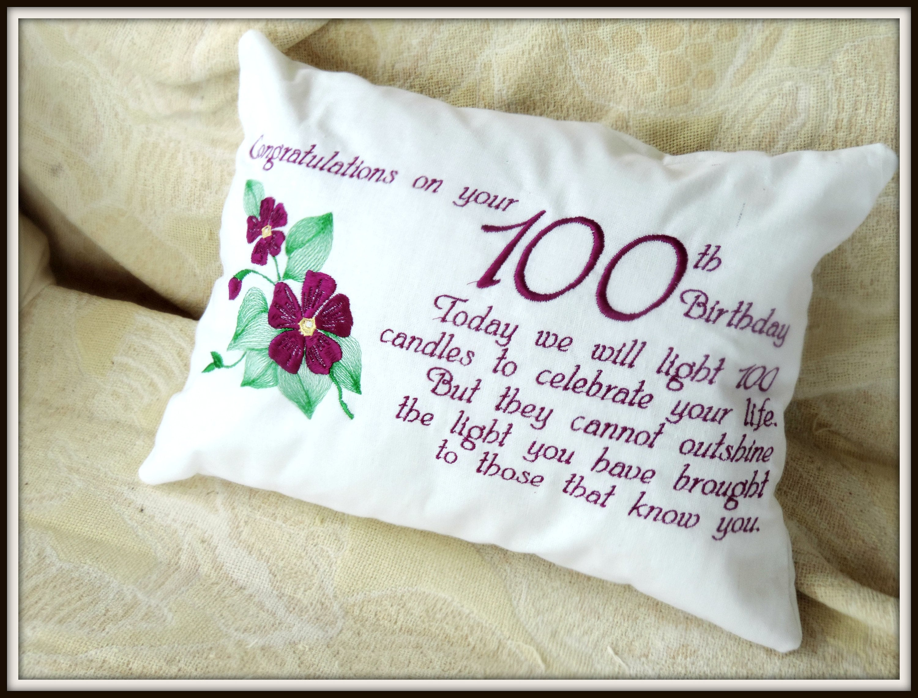 100th Birthday Gift Violet 100 Personalized