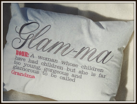 glamma pillow, pregnancy reveal, gift for grandma, glam-ma, grandma to be gift, funny grandma gift, trending now, best selling items