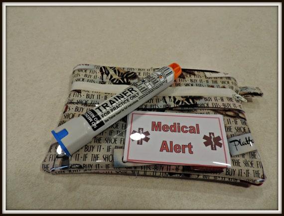 EpiPen Case, epipen bag, Insulated bag, Snack Bag, wet dry bag, clear pocket bag, Water Repellent bag, Fashion Print bag, Travel Medical Bag