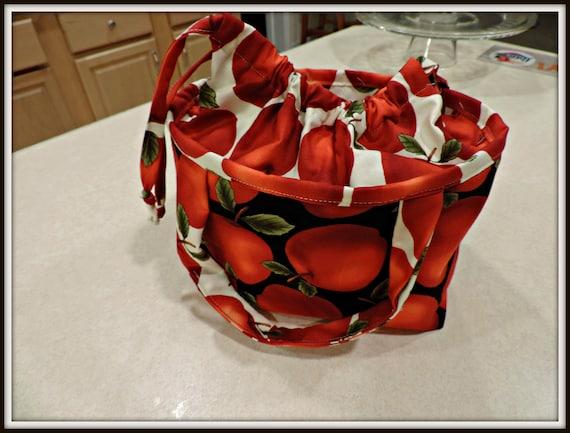 Apple lunch bag, reusable lunch bag, sustainable lunch bag, zero waste bag, snack bag, teacher lunch bag, apple for teacher, teacher gift