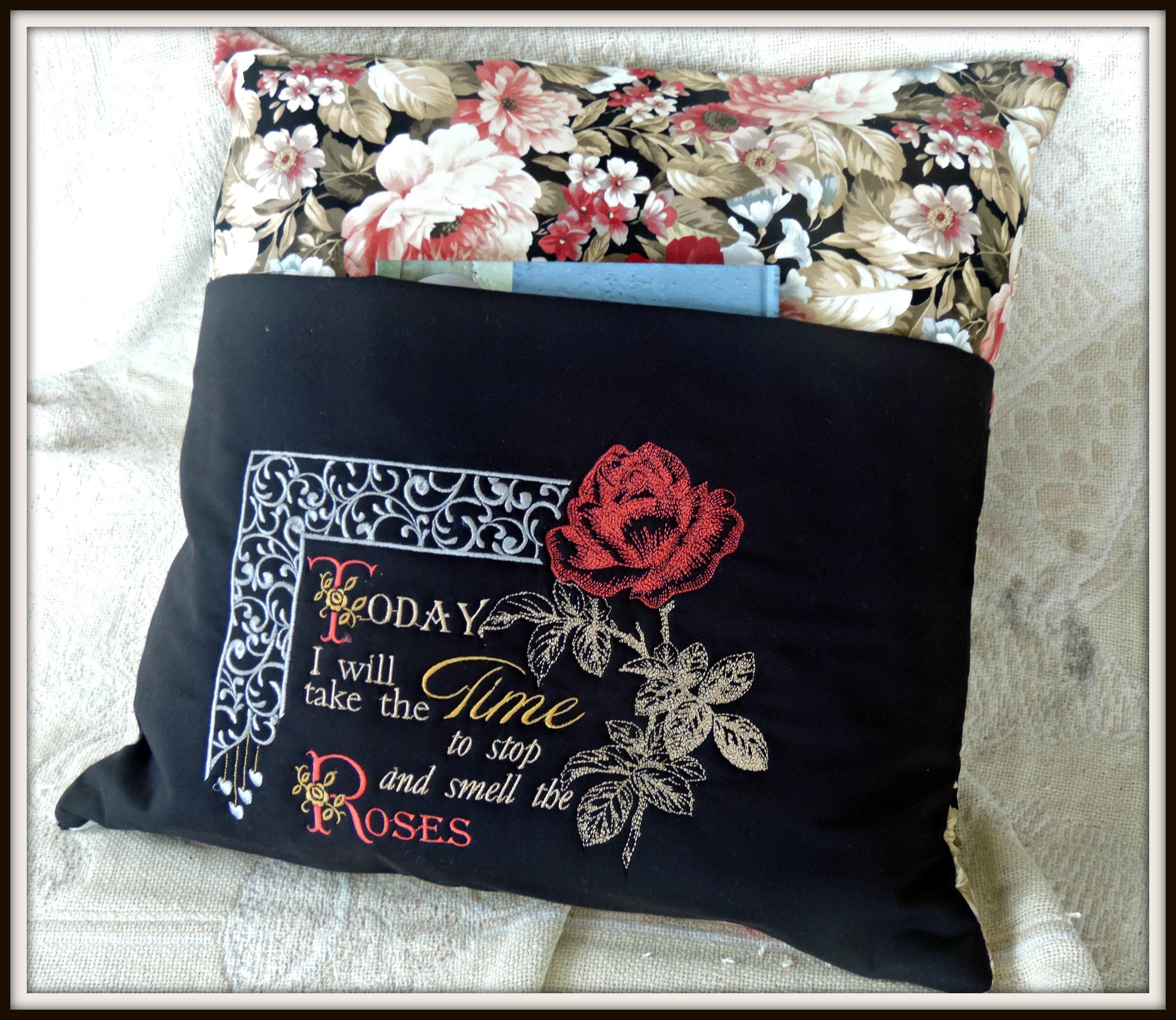 reading pocket pillow, reading pillow, book lover gift, travel gift, book