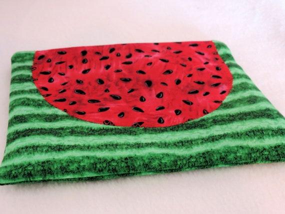 watermelon bag, summer pouch, watermelon purse organizer, watermelon festival, summer purse