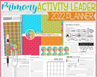 2022 Primary ACTIVITY LEADER Planner EDITABLE, Activity Planning Sheets, Strive to Be, Children & Youth Program - Printable Instant Download