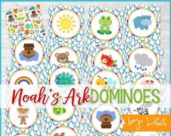 Printable Noah's Ark Game Bible Story SEEK IT Match Game | Etsy