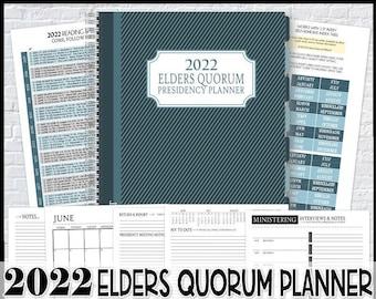 2022 EQ Presidency Planner, Elders Quorum Planner, LDS Planning Inserts, Calendar, Organizer - Printable Instant Download