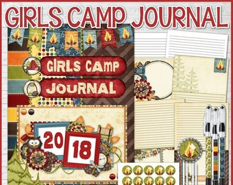 2018 Printable Girls Camp Journal, Young Women Camp Journal, YW Journal, LDS Young Women, RSVP Pen Inserts - Printable Instant Download