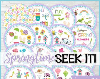 Spring SEEK IT Match Game, Springtime Matching Game, Gardening Game - Printable Instant Download by Lisa