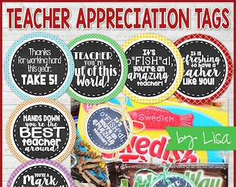 Teacher Appreciation Printables, Gift Tags, Teacher Appreciation Week, Gift Ideas for Teachers, Teacher Gift  - Printable INSTANT Download