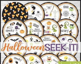 Halloween SEEK IT Match Game, Halloween Printables, Party Games, Class Party Game, Matching Game Cards - Printable Instant Download by Lisa