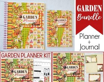 GARDEN PLANNER + Garden Journal - Printable Garden Bundle, Gardner Gift Idea, Gardening Gift, Notebook, Planner, Journal - Instant Download