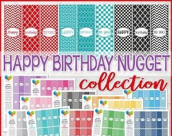 Birthday Candy Bar Wrapper Birthday Gift Tag Happy Birthday Etsy