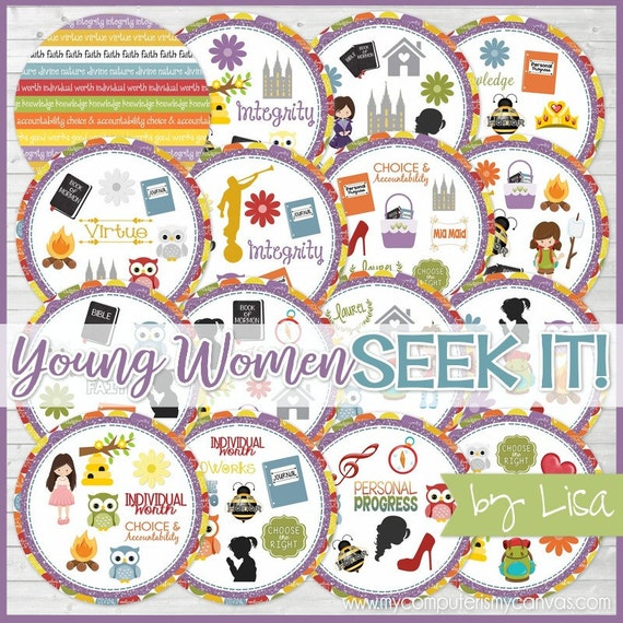 Young Women SEEK IT Match Game New Beehive Gift YW Camp