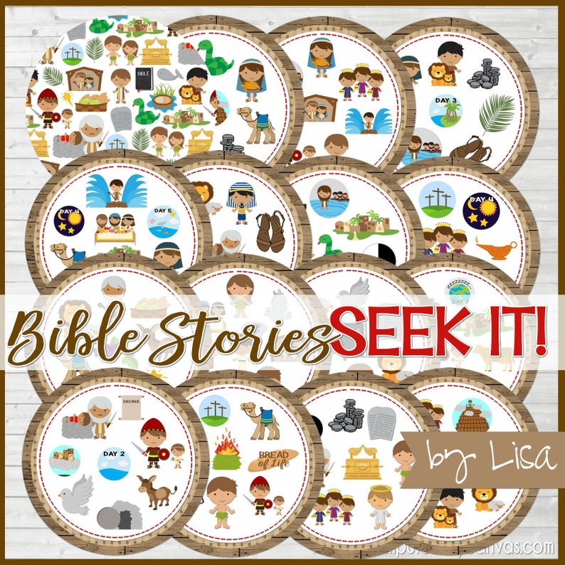 Printable Bible Stories Game, Bible SEEK IT Match Game, Sunday School  Printables, Family Game Night - Printable Instant Download by Lisa
