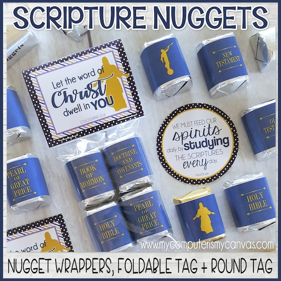 Scripture Nugget Wrappers Standard Works Scripture Handout