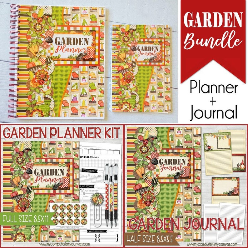 graphic relating to Printable Garden Journal named Backyard garden PLANNER + Backyard garden Magazine - Printable Back garden Package, Gardner Present Notion, Gardening Reward, Laptop computer, Planner, Magazine - Instantaneous Obtain