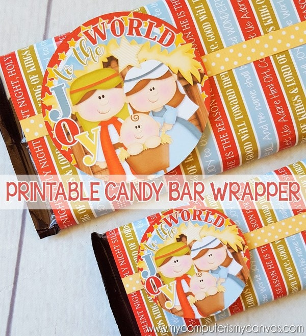 photograph relating to Free Printable Christmas Candy Bar Wrappers referred to as Contentment in the direction of the Global NATIVITY Sweet Bar Wrapper, Reward Tag, Nativity Scene, Xmas Celebration Prefer, Printable, Xmas inside July -Prompt Down load