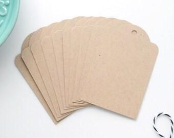 Gift Tags / Set of 10 Kraft Parcel Tags / Wedding Favor Labels / Order Labels