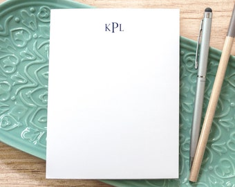 Personalized Monogrammed Notepad / Small Notepad with Monogram / Personal Notepad / Custom Notepad with Monogram / Memo Pad with Initials