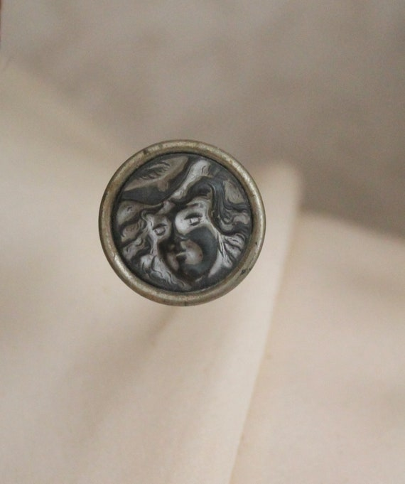Vintage Victorian Sterling Lady Face Hat Pin, Vin… - image 10