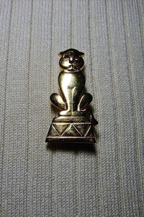 Trifari Circus Cat Brooch, Vintage Trifari Cat Br… - image 6