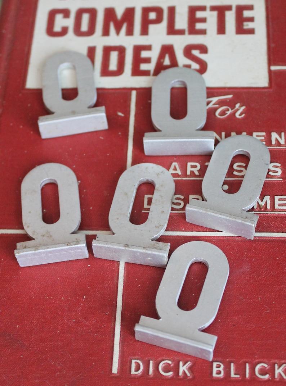 Vintage Art Supply Vintage Typography Vintage Industrial Decor Vintage Metal Sign Letter O with Base Vintage Aluminum Metal Letter O