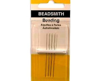 English Beading Needles, #13, Beadsmith, 4 needles per package, Priced per Package