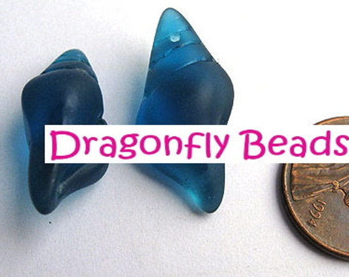 Teal Blue, Conch, Shell, Sea Glass, 26mm, Cultured, Made in China, PRICED PER PIECE