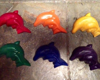 Dolphin Crayons set of six