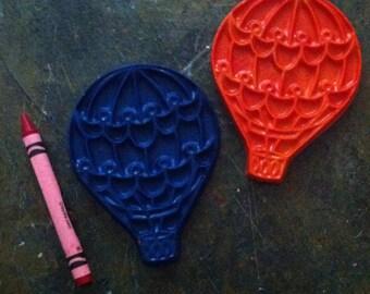 Hot air balloon crayons