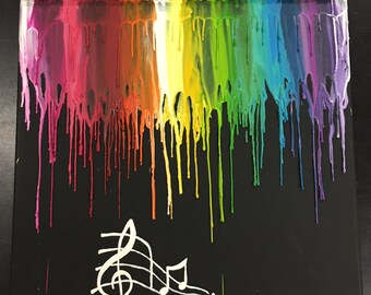 Music crayon art painting