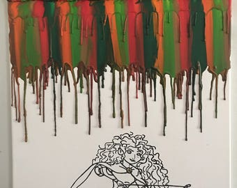 Melted crayons inspired Meredith painting