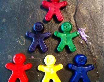 Gingerbread man crayons set of six