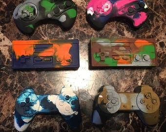 Multicolored gaming controller crayons
