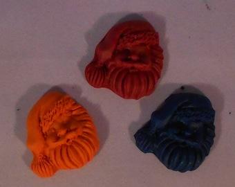 Santa Claus Crayon set of 3