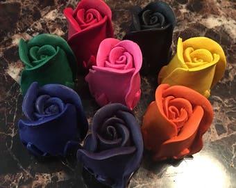 3D roses crayons