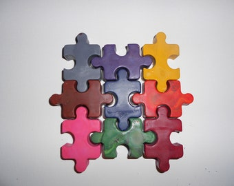 Puzzle Crayons Set of 9