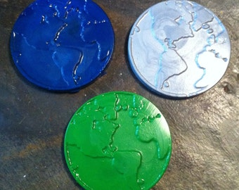 Earth crayons set of three