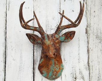 faux deer head etsy