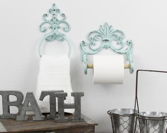 More Colors. Toilet Paper Holder,Towel Ring,Shabby Chic Bathroom Decor
