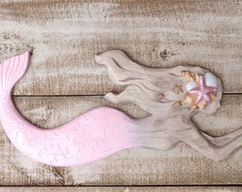 Mermaid~Pink~Mermaid Wall Decor~Mermaid~Nautical~Beach Decor, Bathroom Wall Decor,mermaid partyCyber Monday
