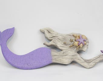 Mermaid Wall Decor,Mermaid Wall Art,Nautical Decor,Beach Decor,Bathroom Wall  Decor,Mermaid Party,Mermaid Gift,Gift For Her