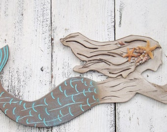 Mermaid Wall Decor Etsy