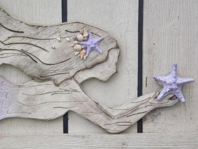 Wood Mermaid Wall Decor Lavender X Large Mermaid Mermaid Mermaid Wall Art Mermaid Wall Decor